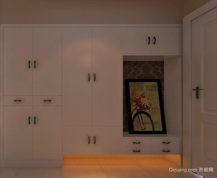 二居室欧式风格室内鞋柜装修效果图