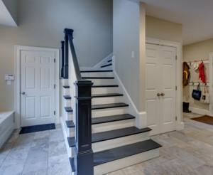 简欧风格单身公寓精致楼梯装修效果图