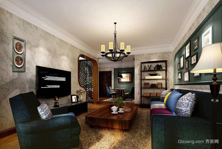 宜家三居室巴洛克风格客厅家具装修图