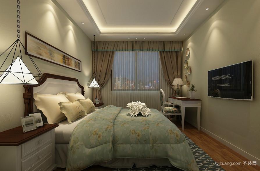 三居室经典混搭风格卧室装修效果图