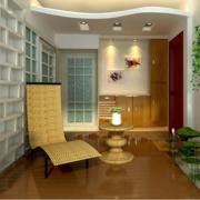 唯美独特的后现代别墅型入户花园装修效果图