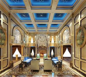 无比奢华巴洛克风格大别墅客厅装修图