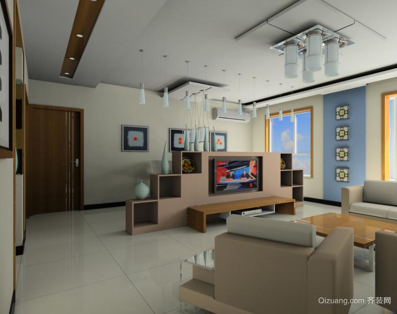 都市三居室后现代电视背景墙装修效果图