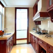 2016一居室美式风格厨房室内装修效果图实例