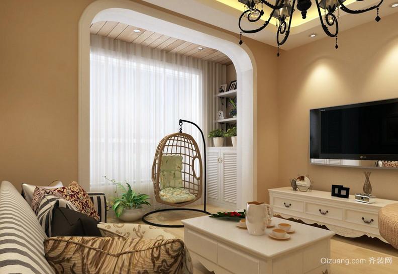65平米单身公寓宜家阳台装修实景图