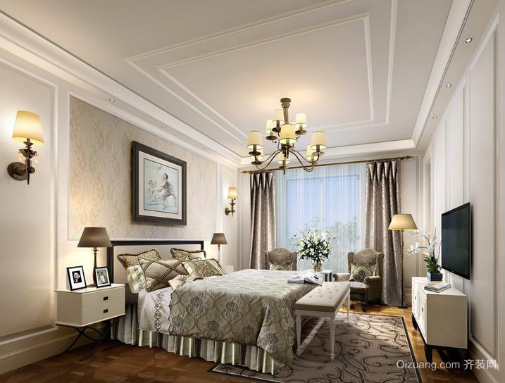 2016三居室卧室巴洛克风格装修效果图
