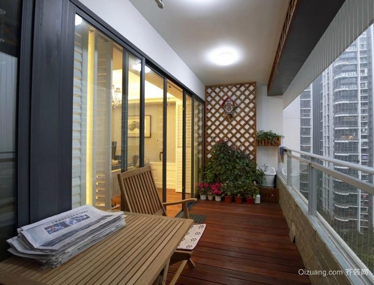 大户型乡村气息的阳台装修实景图