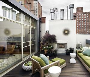 舒适韩式风单身公寓阳台装修实景图