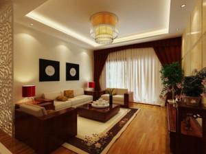 2016日式风格二居室室内窗帘装修效果图