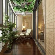 现代宜家欧式风格三居室阳台装修效果图