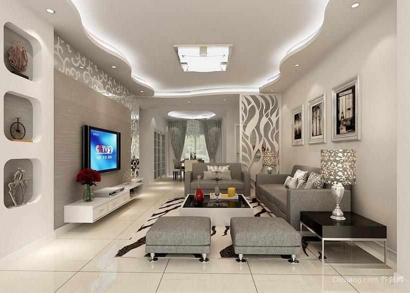 2016三居室宜家室内吊顶装修效果图实例