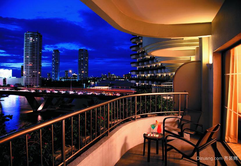 视野超好的宜家阳台装修效果实景图