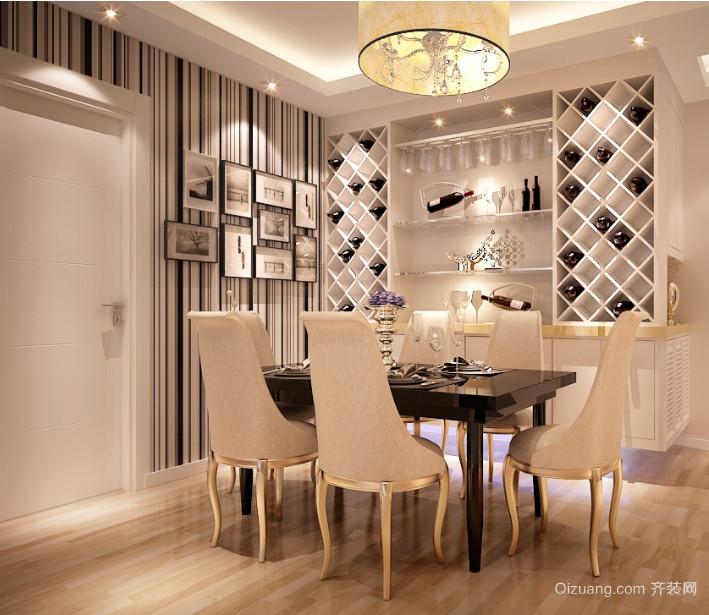 新古典风格别墅型室内酒柜装修效果图