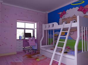 韩式风87平米小户型儿童房设计效果图