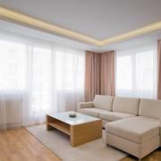 现代北欧风格别墅型室内窗帘装修效果图