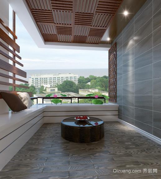 6平米朴素幽雅的阳台装修效果图