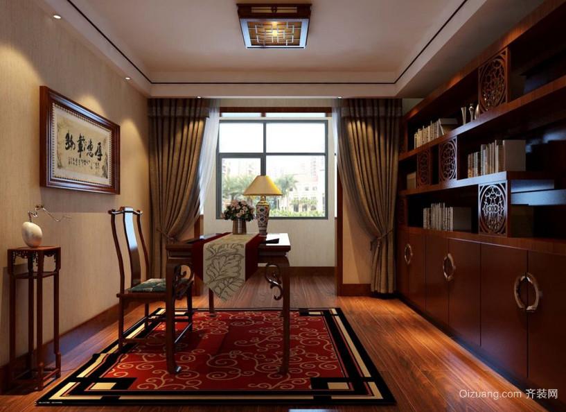 精美的大户型中式书房装修效果图鉴赏