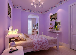 可爱温馨的儿童房简欧风格设计效果图