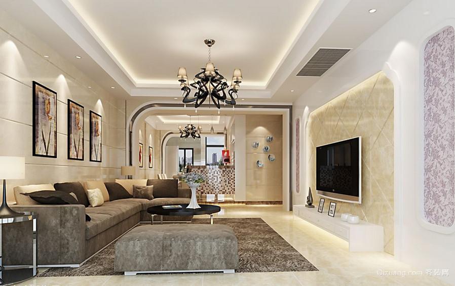 优雅独特的大户型欧式客厅吊顶装修效果图