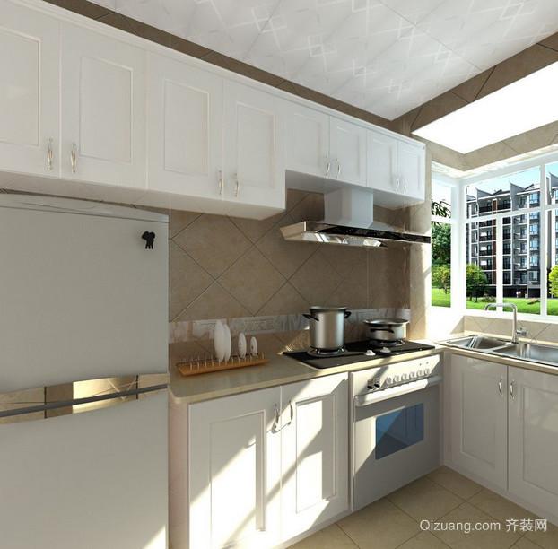 三居室精致的简欧风格厨房橱柜效果图实例