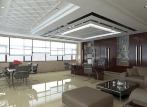 现代都市老板办公室装修效果图实景图