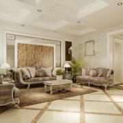 欧式风格现代室内沙发背景墙装修效果图
