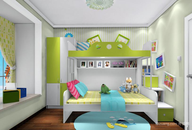 韩式清爽87平米两居室儿童房设计效果图
