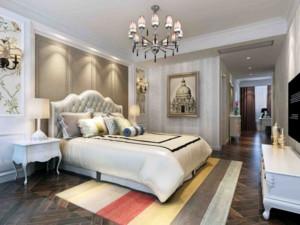 欧式风格卧室软包背景墙装修效果图实例