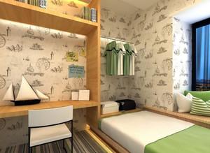 90平米小户型乡村朴素儿童房设计效果图