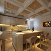 2016别墅型欧式开放式厨房装修效果图实例