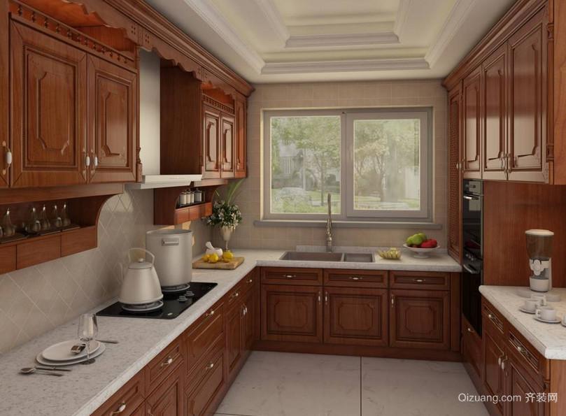 2016别墅型室内简欧风格厨房装修效果图