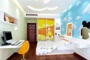 彩色靓丽的北欧风格儿童房设计效果图