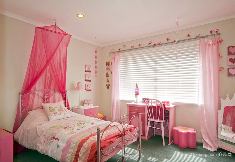 法式浪漫小公主儿童房设计效果图