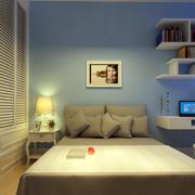 简欧风格灰白色儿童房设计效果图