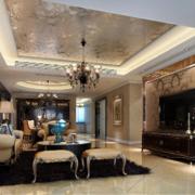 2016现代欧式精致的别墅室内装修效果图