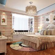 优雅小女生儿童房简欧风设计效果图