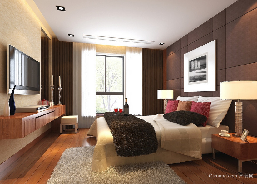 100平米大户型欧式卧室装修效果图实例欣赏