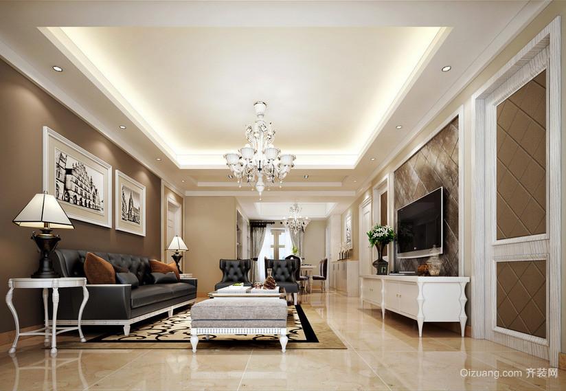 时尚唯美的二居室客厅照片墙装修效果图实例