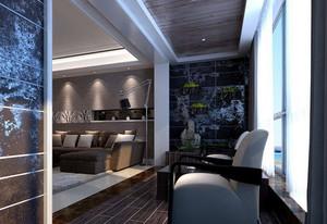 后现代风格三室两厅大阳台装修效果图