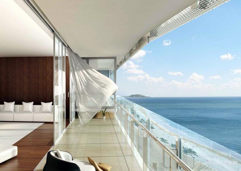 朴素时尚的大户型阳台装修效果图
