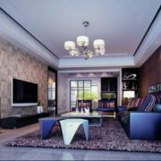 110平米后现代装修风格客厅装修效果图