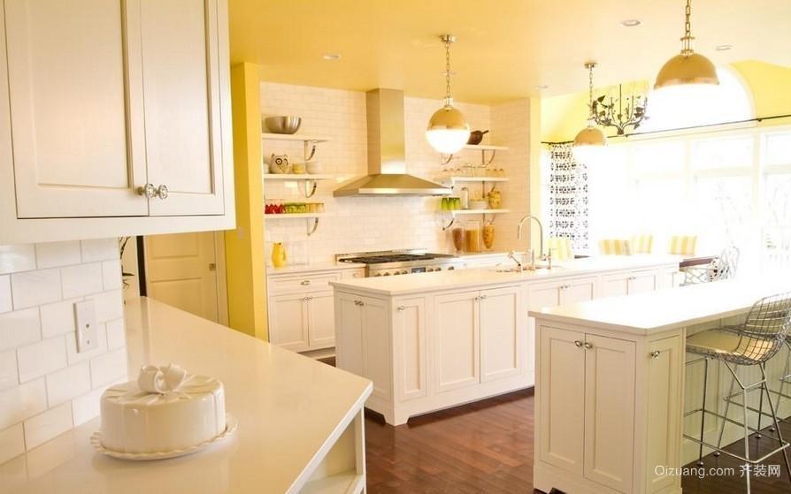 温馨乡村风大厨房装修设计效果图