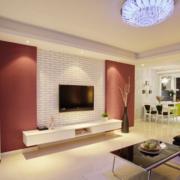 欧式风格别墅客厅电视背景墙装修效果图