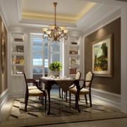 90平米欧式大户型家庭餐厅装修效果图实例