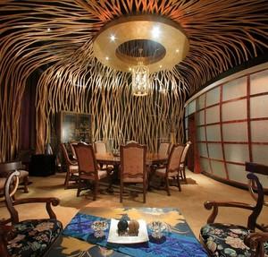 大户型创意复古风餐厅装修效果图