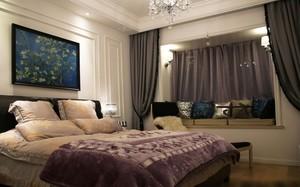 122平米家居新古典卧室飘窗设计效果图