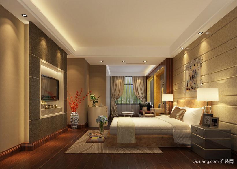 大户型欧式家庭卧室背景墙装修效果图