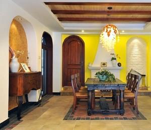 336平米小复式楼复古餐厅装修效果图