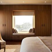 两室一厅淳朴乡村风卧室飘窗设计效果图