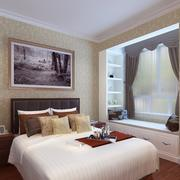 三室一厅大卧室时尚飘窗设计效果图
